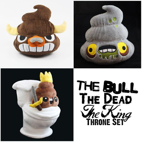 The Bull, The Dead & The King Throne Set - I Heart Poop Culture - Furry Feline Creatives