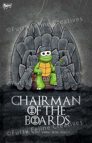 11x17 Dude Chairman of The Boards Print - Furry Feline Creatives