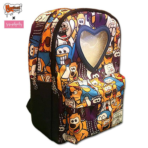 SDCC Exclusive Purridge & Friends Collage Window Backpack - Furry Feline Creatives - Furry Feline Creatives