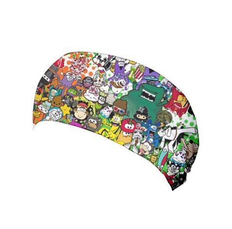Furry Feline Collage Yoga Headband - Purridge & Friends - Furry Feline Creatives