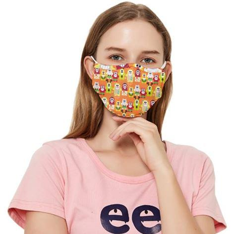 PF Fruity Delights Fitted Cloth Face Mask With Filters