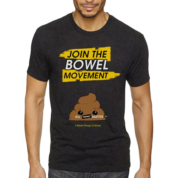 Join The Bowel Movement Men's Tee - I Heart Poop Culture - Furry Feline Creatives