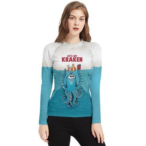 Lets Get Kraken Women's Long Sleeve Rash Guard