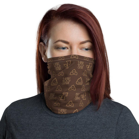 Poopie Loo Face Mask / Neck Gaiter - I Heart Poop Culture - Furry Feline Creatives