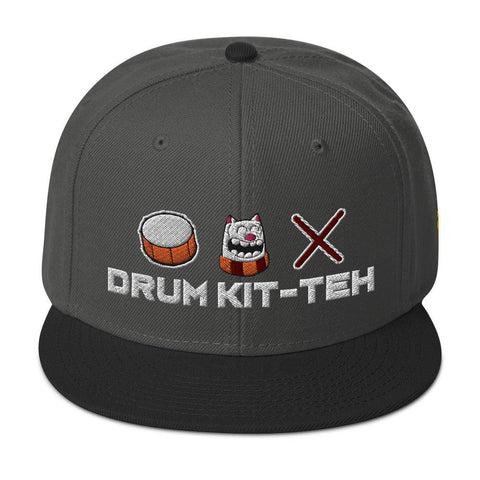 Purridge Drum Kit-teh Snapback Hat - Furry Feline Creatives  - Furry Feline Creatives