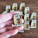 Purridge Negora Enamel Pin - Furry Feline Creatives
