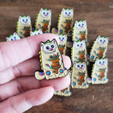 Purridge Negora Enamel Pin - Purridge & Friends - Furry Feline Creatives
