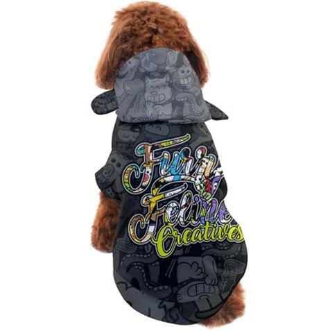 FFC Collage Pet Hoodie - Purridge & Friends - Furry Feline Creatives