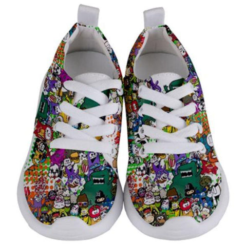 PF Collage Kids Sport Shoes - Purridge & Friends - Furry Feline Creatives