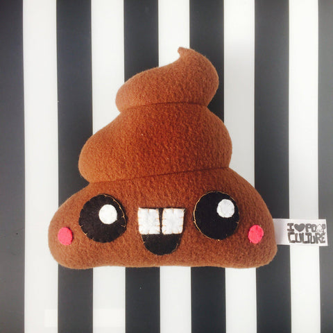 "Handmade Poop Plush 8"" Classic Brown - I Heart Poop Culture - Furry Feline Creatives"