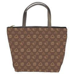Poopie Vuitton Brown Handbag - I Heart Poop Culture - Furry Feline Creatives