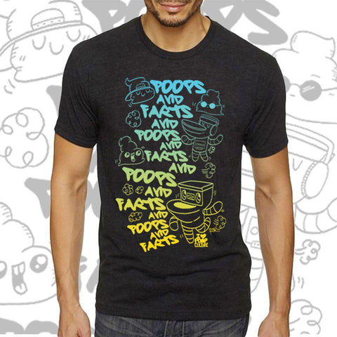 Poops and Farts Men's Tee - I Heart Poop Culture - Furry Feline Creatives