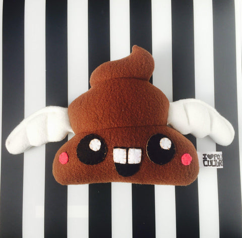 "Handmade Poop with Wings 8"" Plush - I Heart Poop Culture - Furry Feline Creatives"