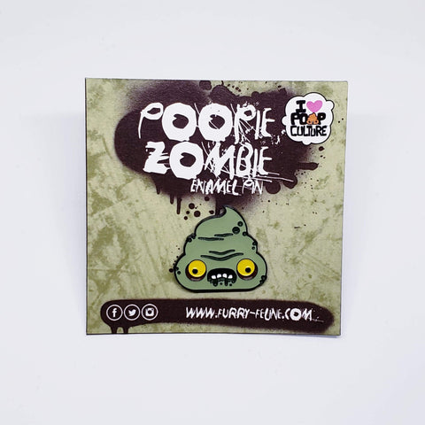 Zombie Enamel Pin - I Heart Poop Culture - Furry Feline Creatives