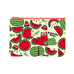 Watermelon Ringo Cosmetic Pouches - Purridge & Friends - Furry Feline Creatives