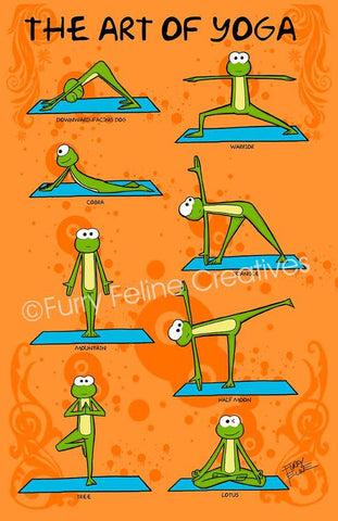 11x17 The Art Of Yoga Print - Purridge & Friends - Furry Feline Creatives