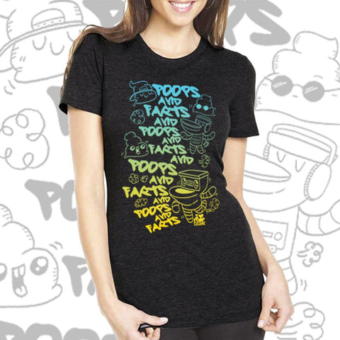 Poops and Farts Women's Tee - Furry Feline Creatives