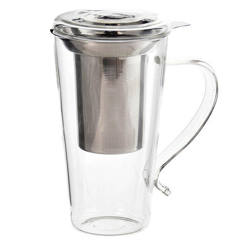 Tall Glass Tea Mug with Infuser - MARBELLA