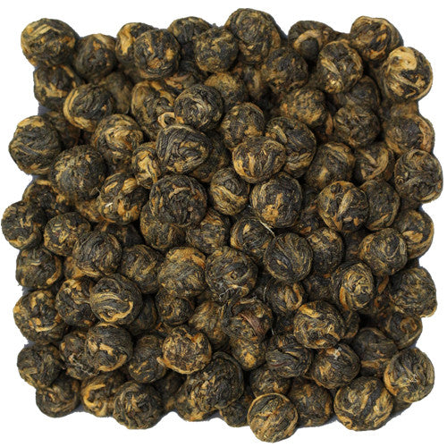 Black Dragon Pearls Black Loose Tea | Nerd Teas