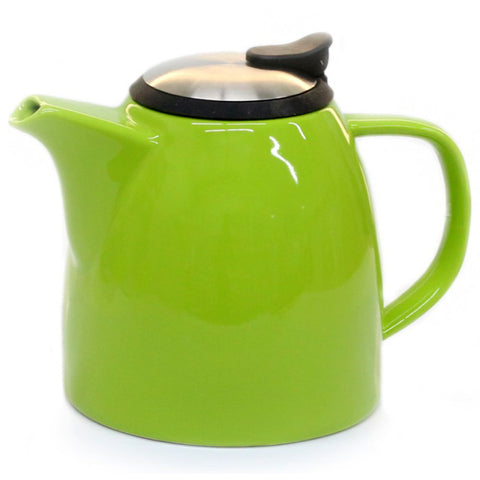 Drago Ceramic Teapot w/ Stainless Steel Lid & Infuser (Lime)
