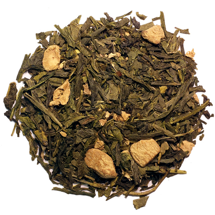 Ginger Green Black Loose Tea | Nerd Teas