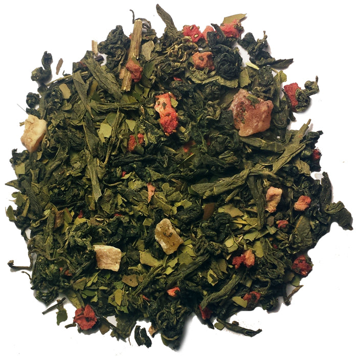 Strawberry Power-up Green Loose Tea | Nerd Teas