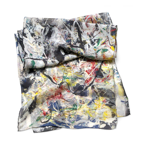Jackson Pollock White Light Scarf