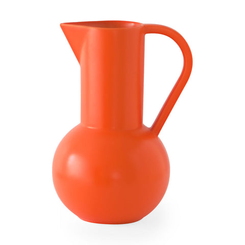 Large Raawii Strøm Jug, Deep Orange