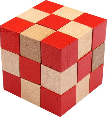 FLW Red Cube 3D Block Puzzle