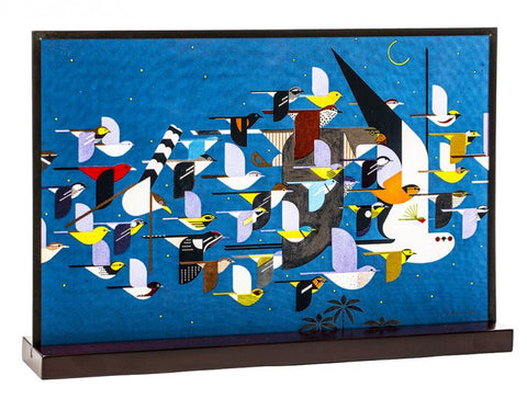 "Charley Harper's ""Mystery of the Missing Migrants"" Art Glass"