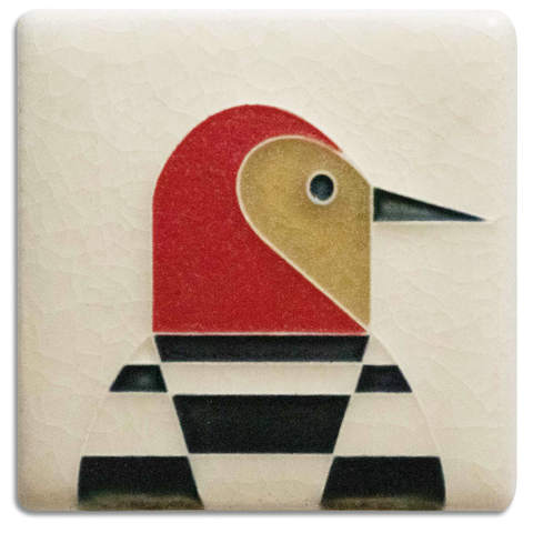 3x3 Woodpecker Art Tile