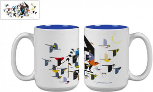"Charley Harper's ""Mystery of the Missing Migrants"" Mug"