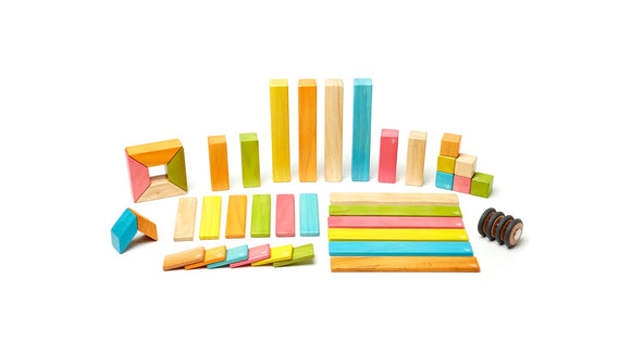 Tegu Magnetic Wooden Block Set in Tints 42-Piece