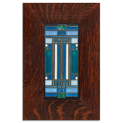 4x8 Skylight Art Tile, Turquoise, Framed