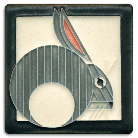 4x4 Hare Grey Art Tile