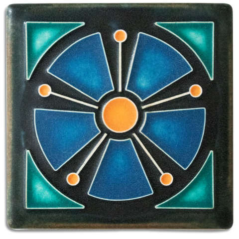 4x4 Atomic Anemone Art Tile