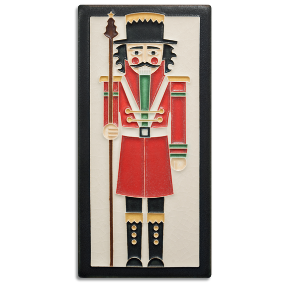 4x8 Nutcracker Art Tile - Peppermint
