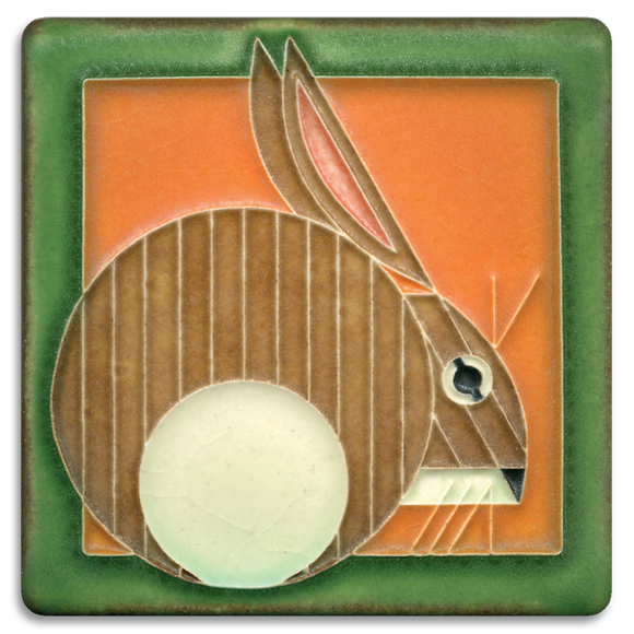 4x4 Hare Carrot Art Tile