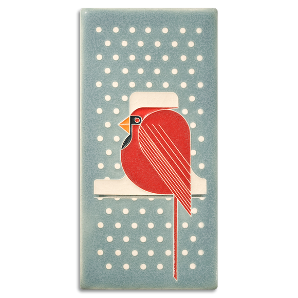 4x8 Cool Cardinal Art Tile