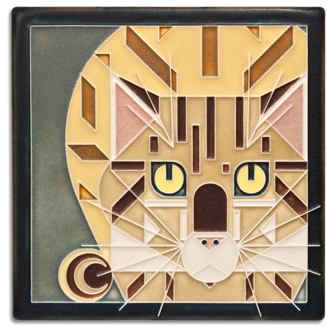 6x6 Golden Catnip Art Tile