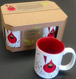 "Charley Harper's ""Cardinal and Seeds"" Mug (Box of 4)"