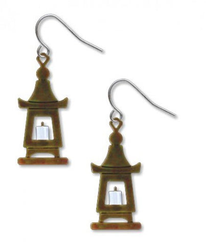 Stone Lantern Earrings