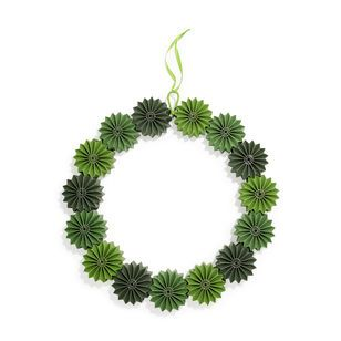 Geometric Green Holiday Wreath