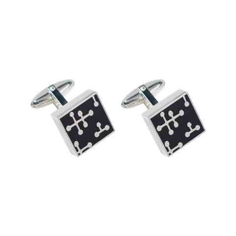 """Dots - Black"" Cufflinks"