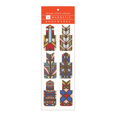 Frank Lloyd Wright Designs Magnetic Bookmark Set