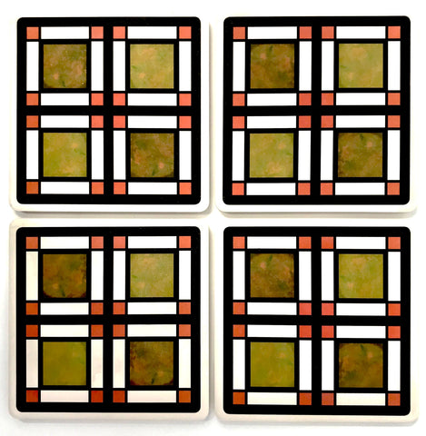 Westcott House Glass Coaster Set