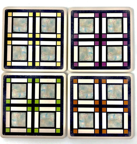 Westcott House Glass Assorted Coaster Set