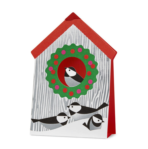 Holiday Birdhouse Holiday Cards