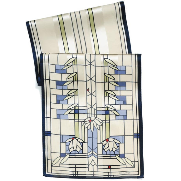 Frank Lloyd Wright Waterlilies Silk Scarf
