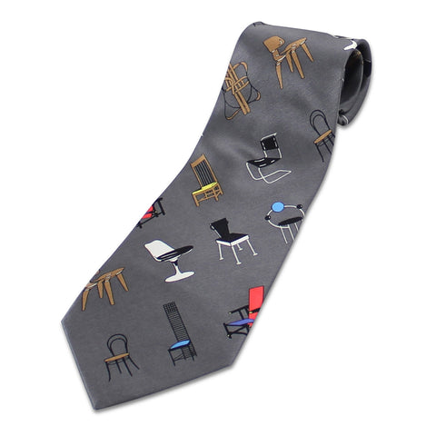 """Chairs Grey"" Tie"